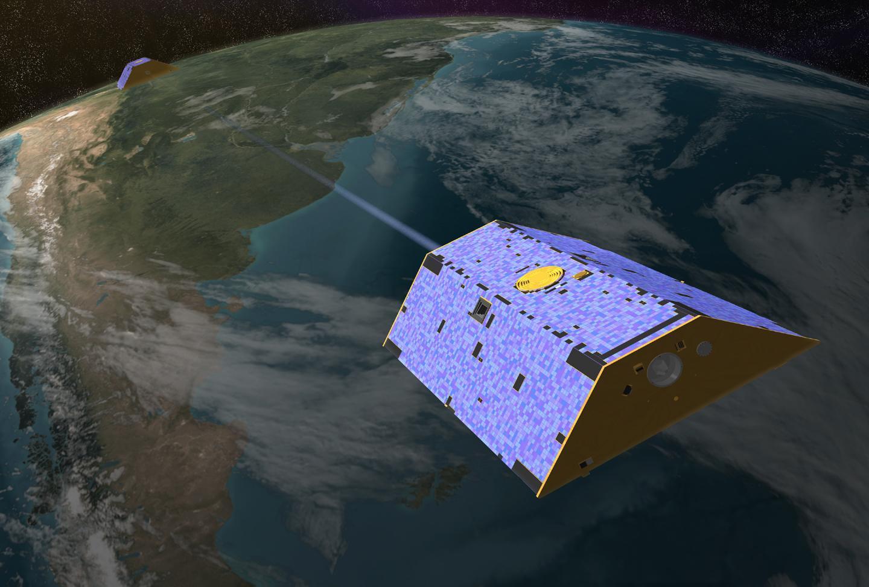 Mission GRACE-FO, partenariat entre le GFZ et la NASA pour mesurer le champ de gravitation terrestre
