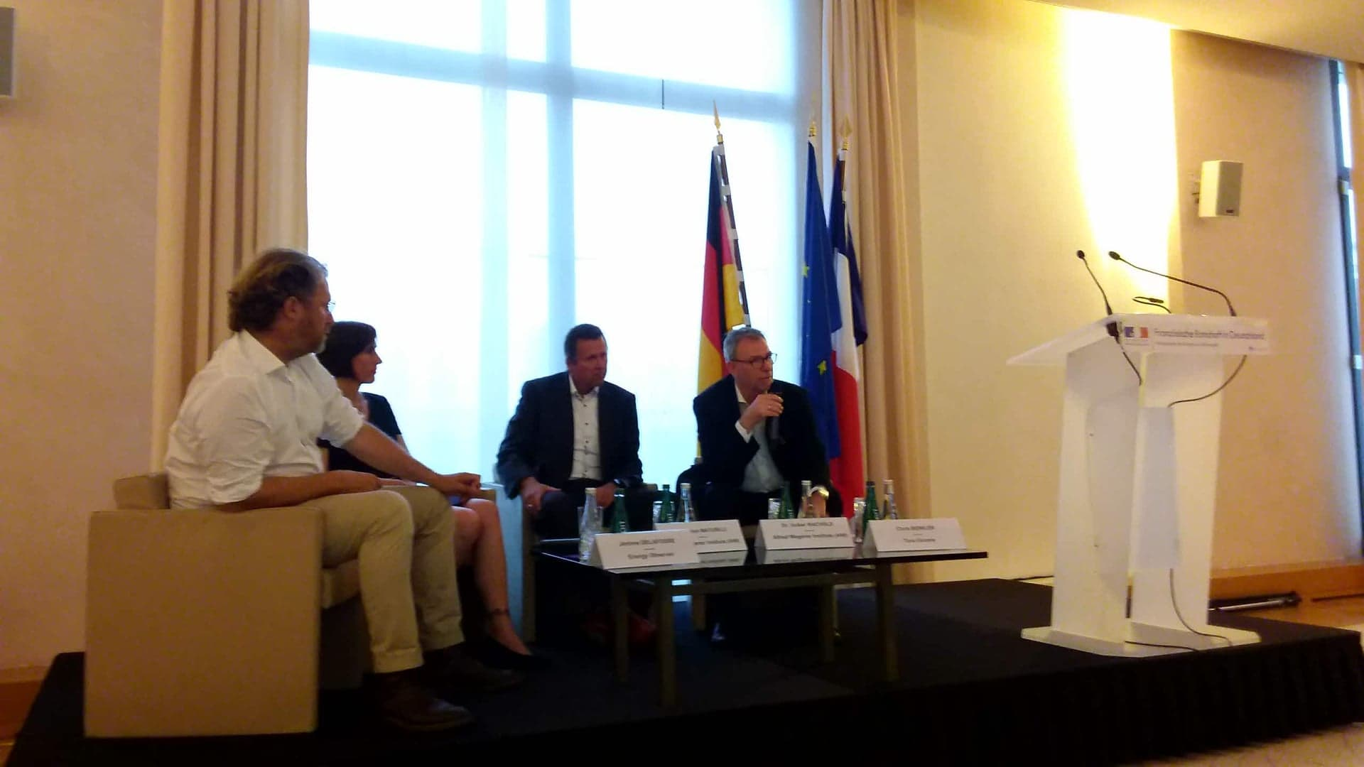 Conférence sur les « Expéditions marines au service du climat », à l'ambassade de France à Berlin (03/06/2019)