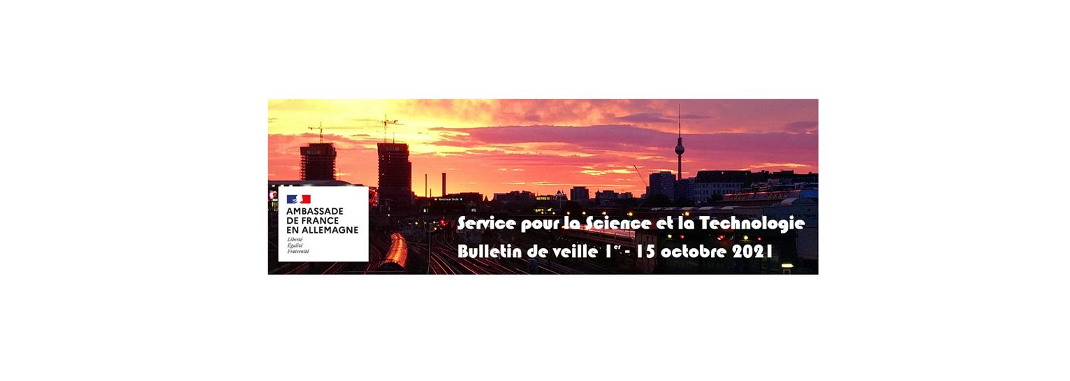Bulletin de veille du 01 au 15 octobre 2021
